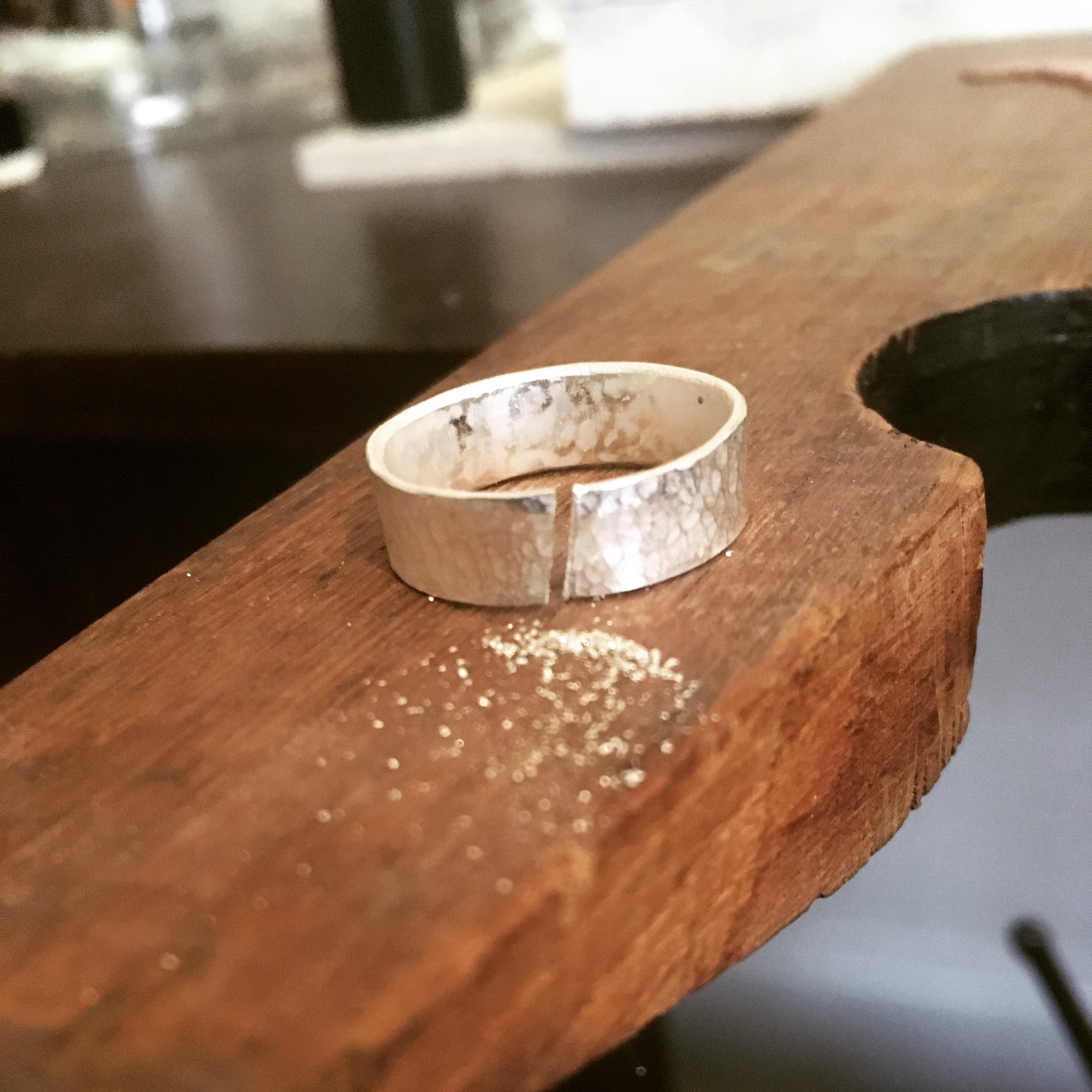 Textured Weding Ring
