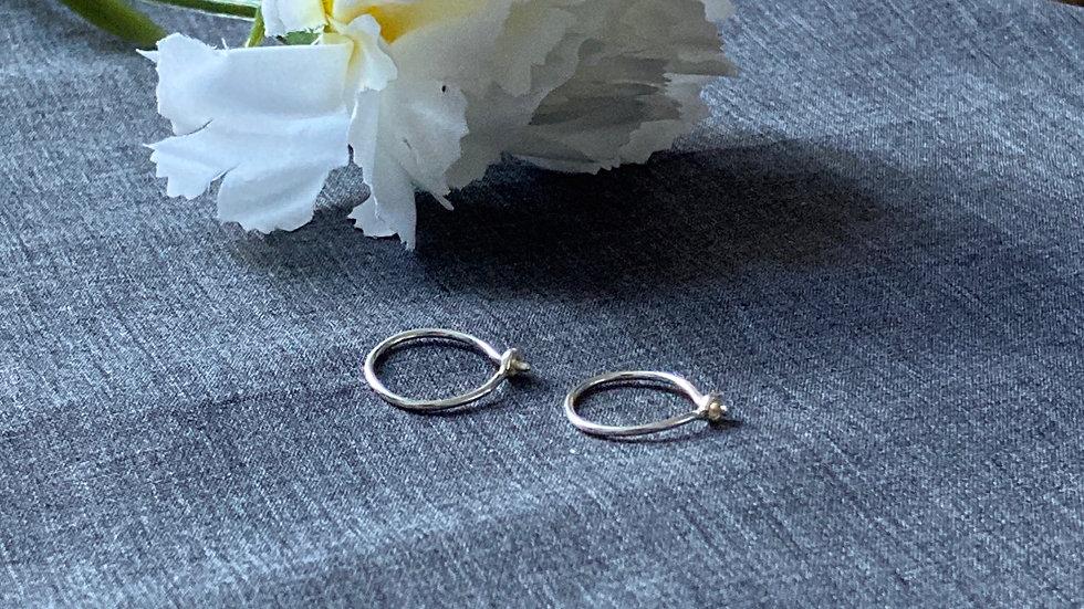 Simple Sterling Silver Hoops