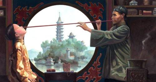 En China, durante el siglo XI, se practicaba ya la variolización mediante la introducción de costras pulverizadas por la nariz mediante una caña de bambú.