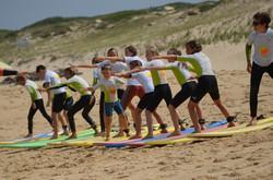 ecole de surf des bourdaines 1955