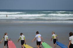 ecole de surf des bourdaines 1960