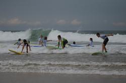 ecole de surf des bourdaines 1983