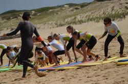 ecole de surf des bourdaines 1954