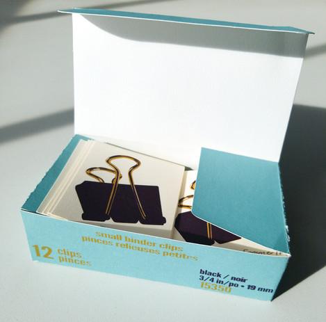 Binder Clip Box (View VI-open)