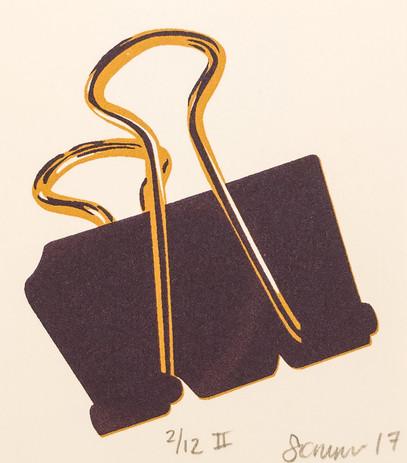 Mini Binder Clip Print
