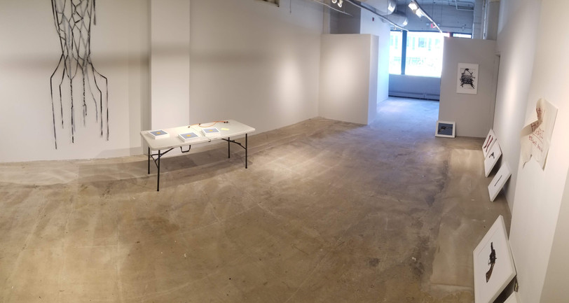 Gallery space with one of Brian's peices