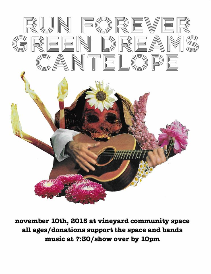 Flyer for Green Dreams Show