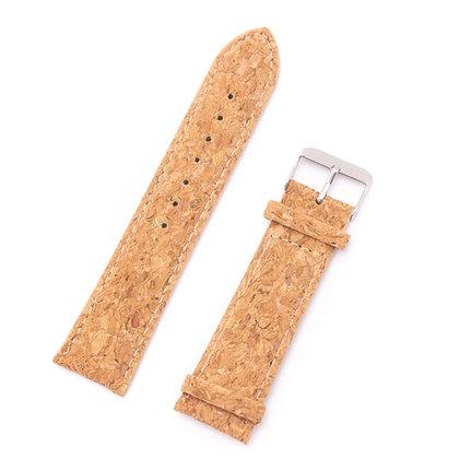 """רצועה לשעון- טבעית ועשויה שעם 20 מ""""מ"""