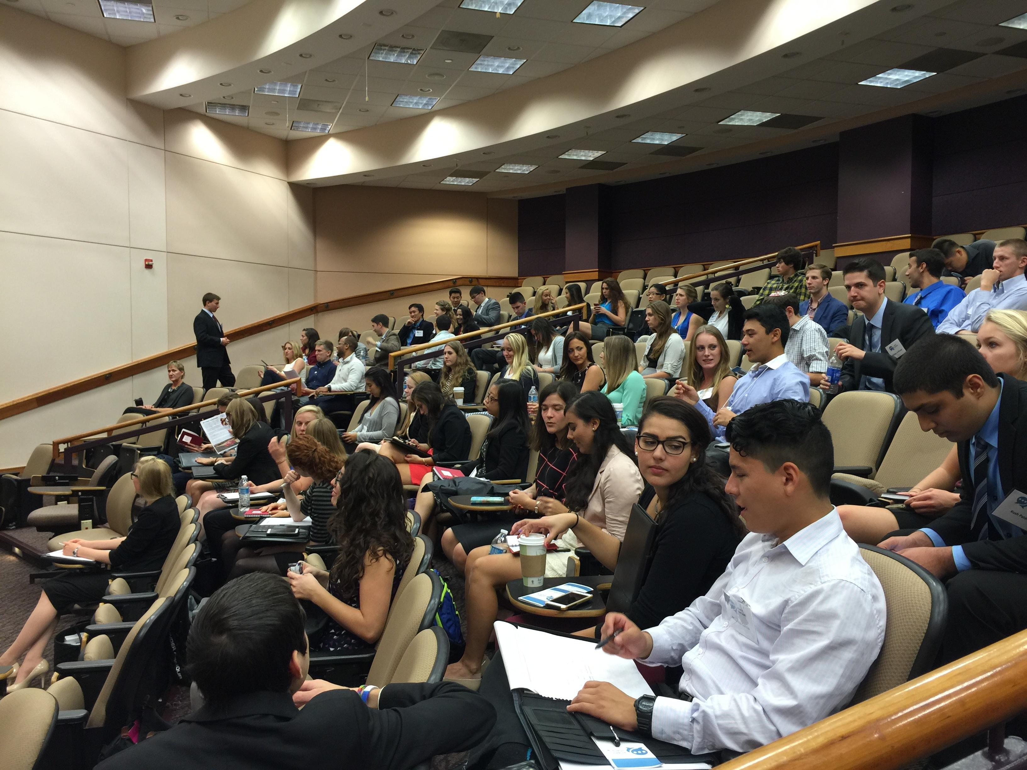 Undergraduate marketing conference Frank Auditorium