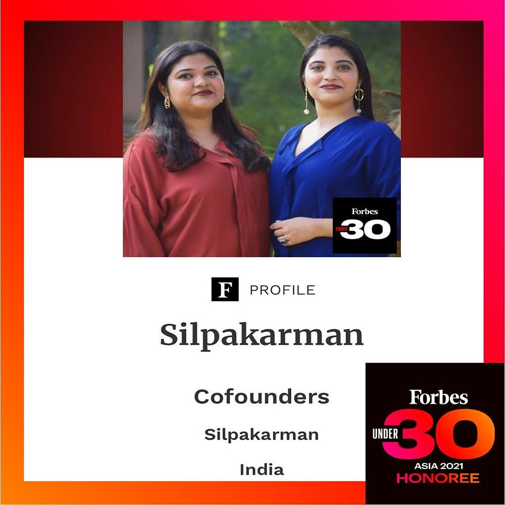 Silpakarman features in the Forbes Asia 30 Under 30 class of 2021.