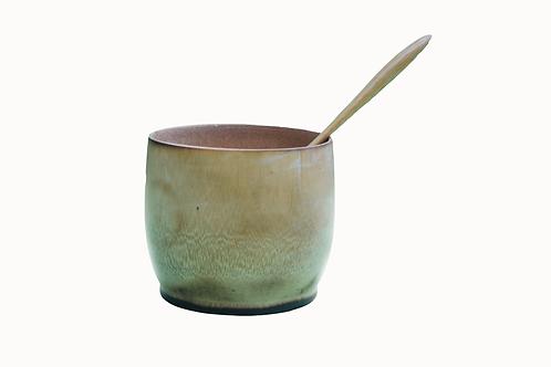 Handmade Bamboo Bowl with Spoon - 2 piece