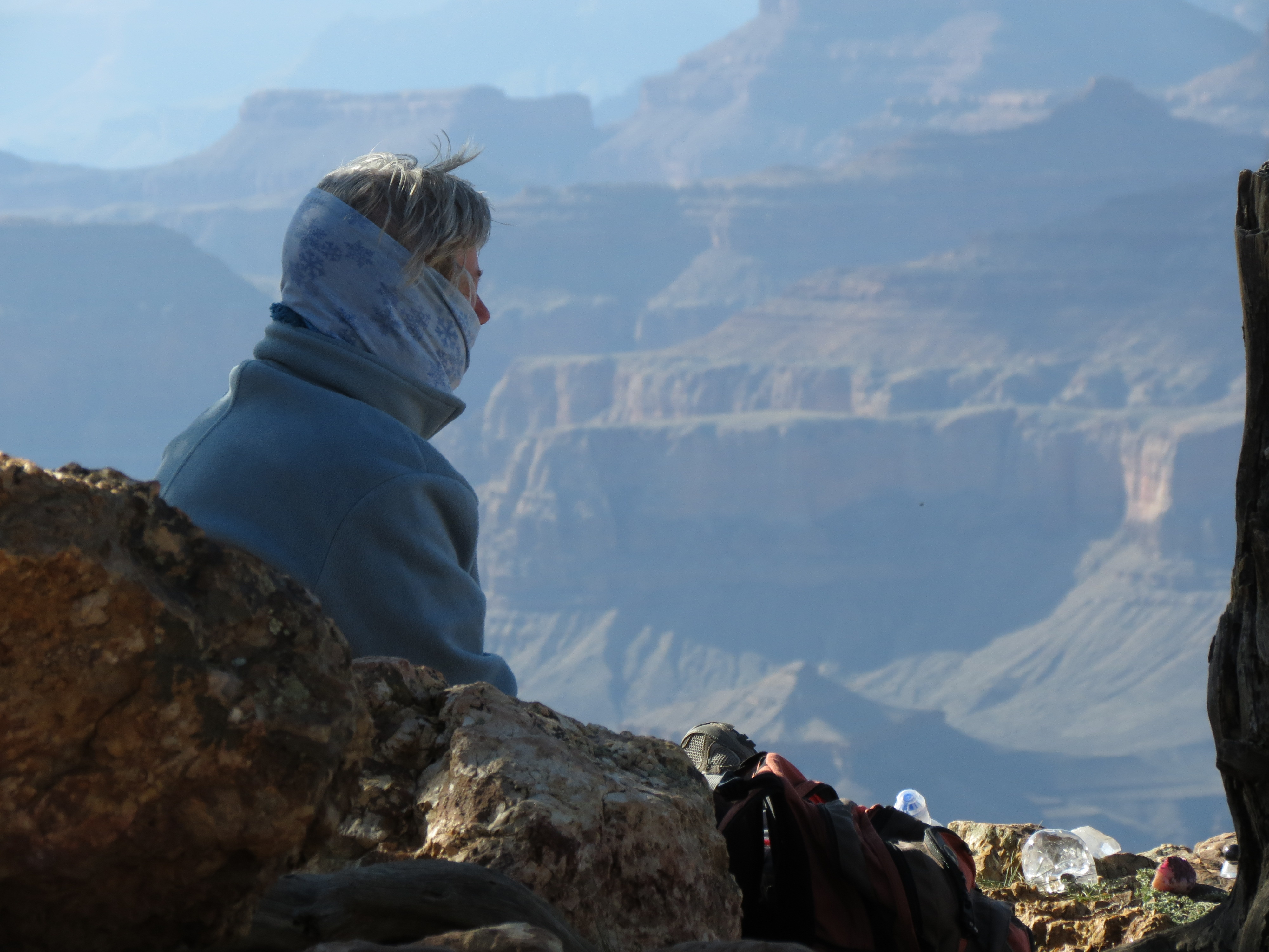 Woman Meditates at the Edge