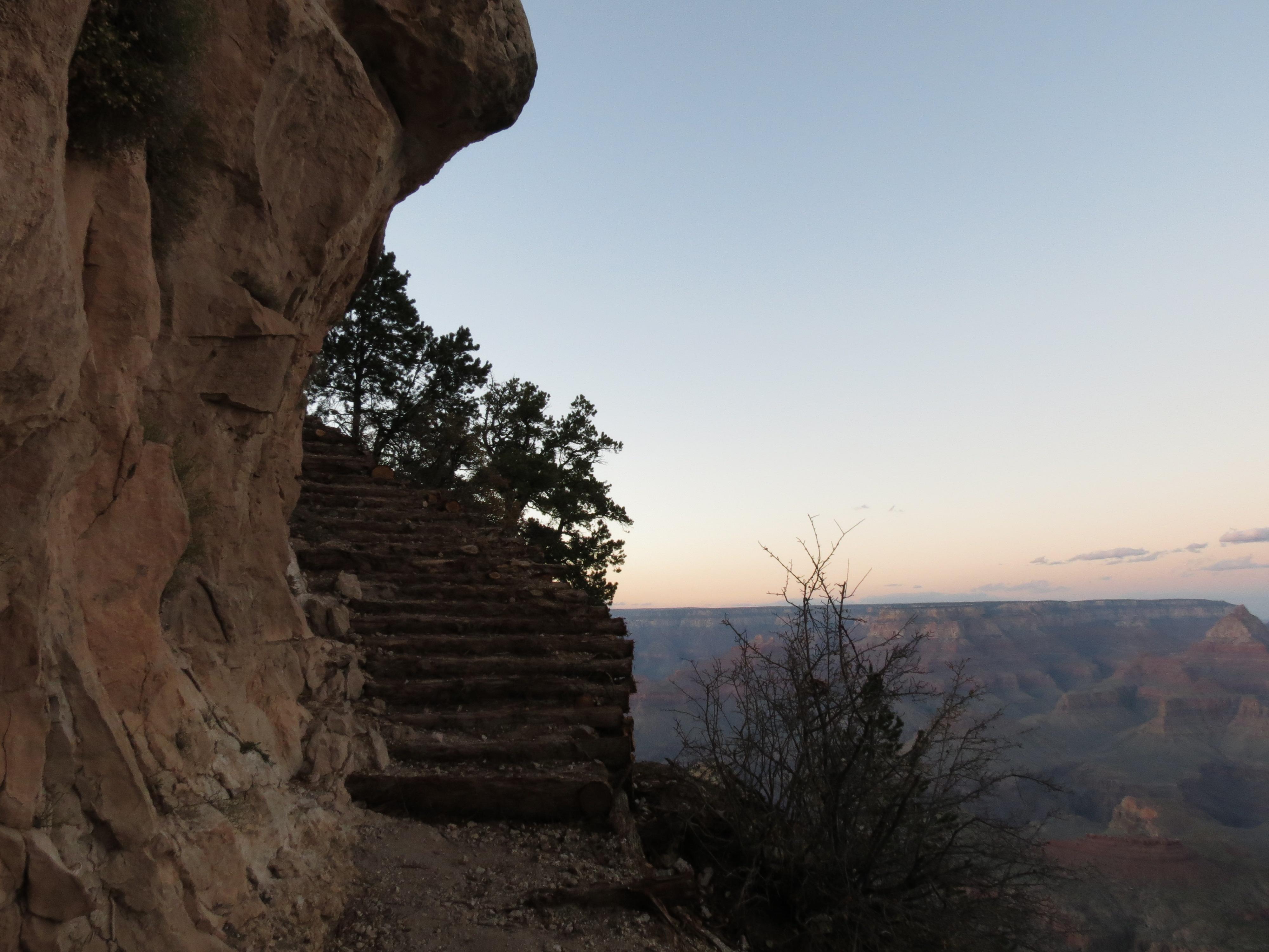 Miner Trail Steps-- Grand Canyon, AZ