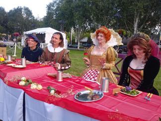 Queen Elizabeth I at her banquet table