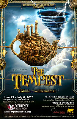 The Tempest - June 23 thru July 8, 2017 at the Round at Beaverton Central