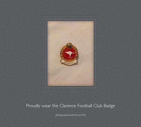 Clarence Football Club Member's Badge