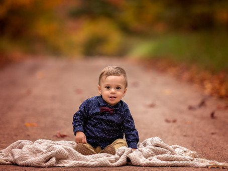 Leyton's 1st Birthday Autumn photo session!