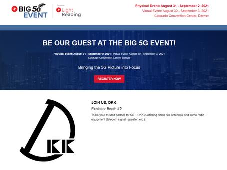 DKK to exhibit at Big 5G Event 2021 Online!