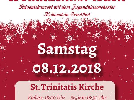 Weihnachtsfrieden - Jugendblasorchester Hohenstein-Ernstthal e.V. lädt im Dezember zu Konzerten ein
