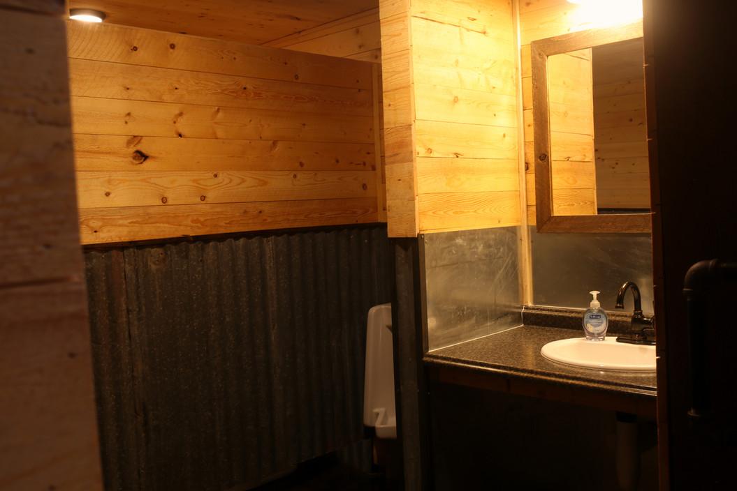 Men's Restroom at Red Barn Events Center