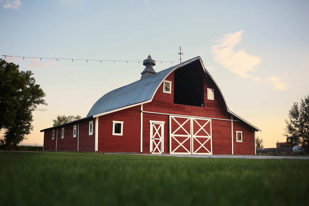 Front View of Red Barn