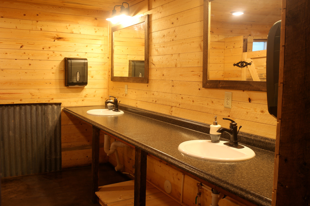 Wash Basins in Women's Restroom at Red Barn Events Center
