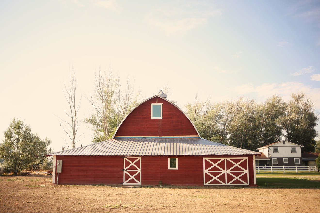 Back View of the Red Barn