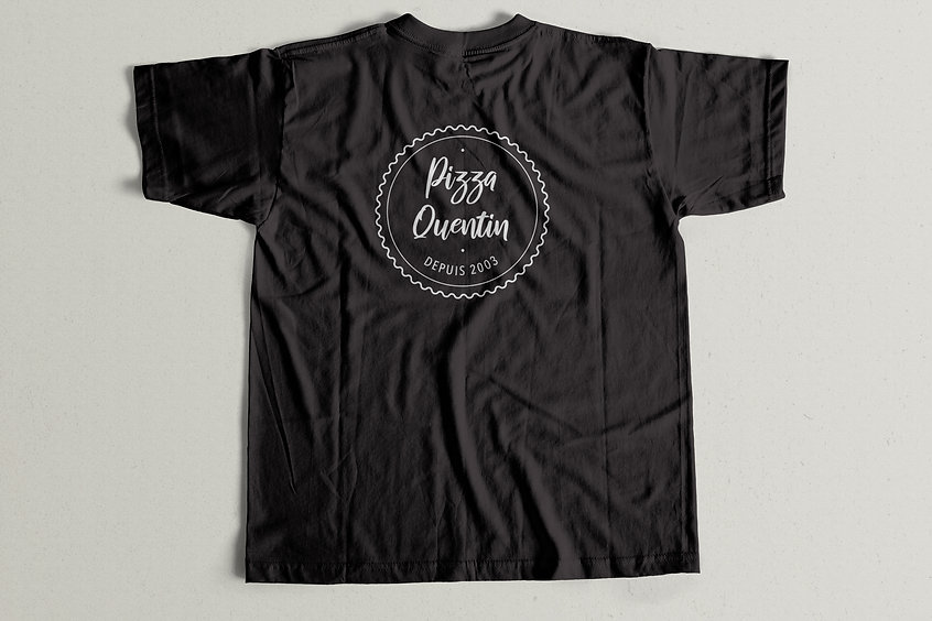 t-shirt pizza quentin, logotype