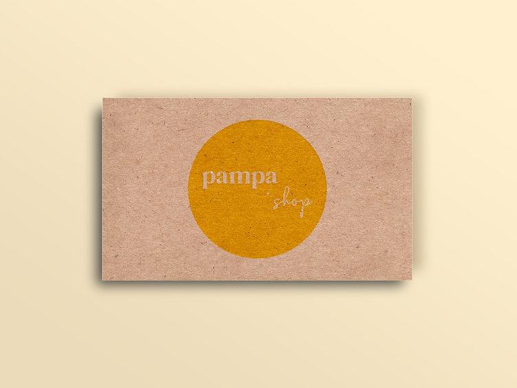le pampa shop, carte de visite et de remerciements