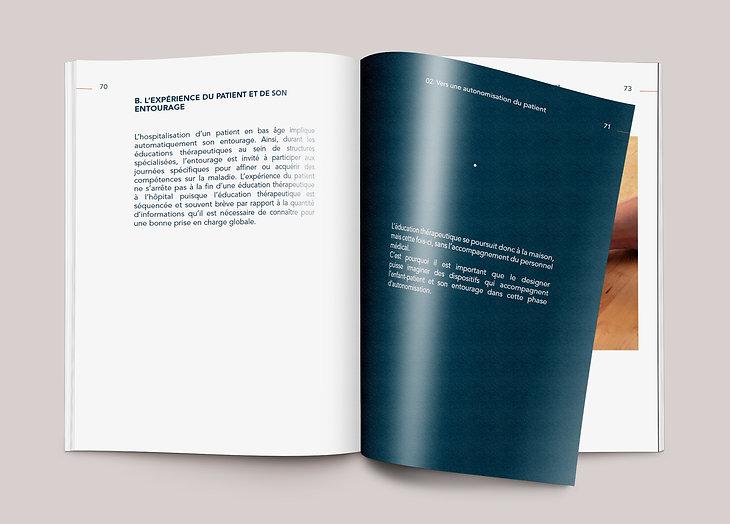 Mémoire Design & Santé sur l'accompagnement et les soins thérapeutiques