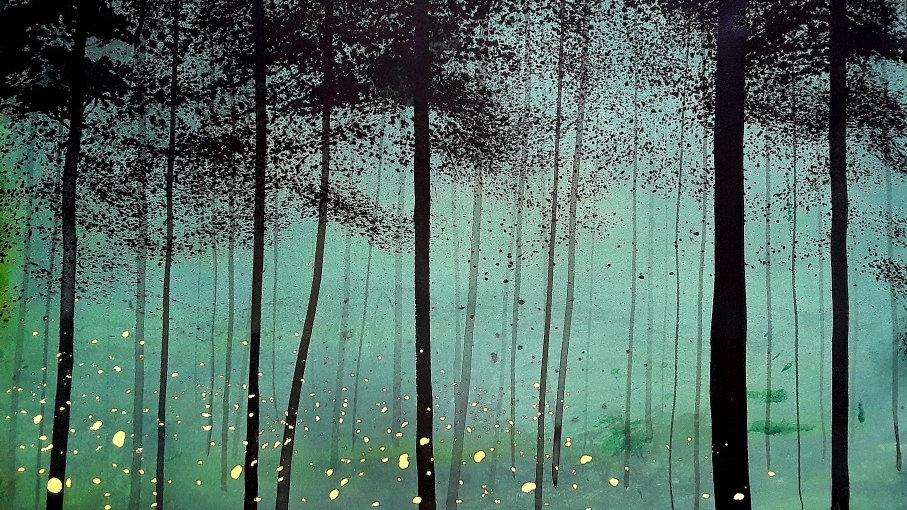 Fireflies luminescence