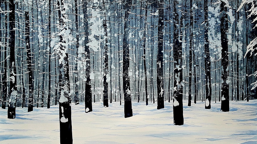 Indigo light fresh snow