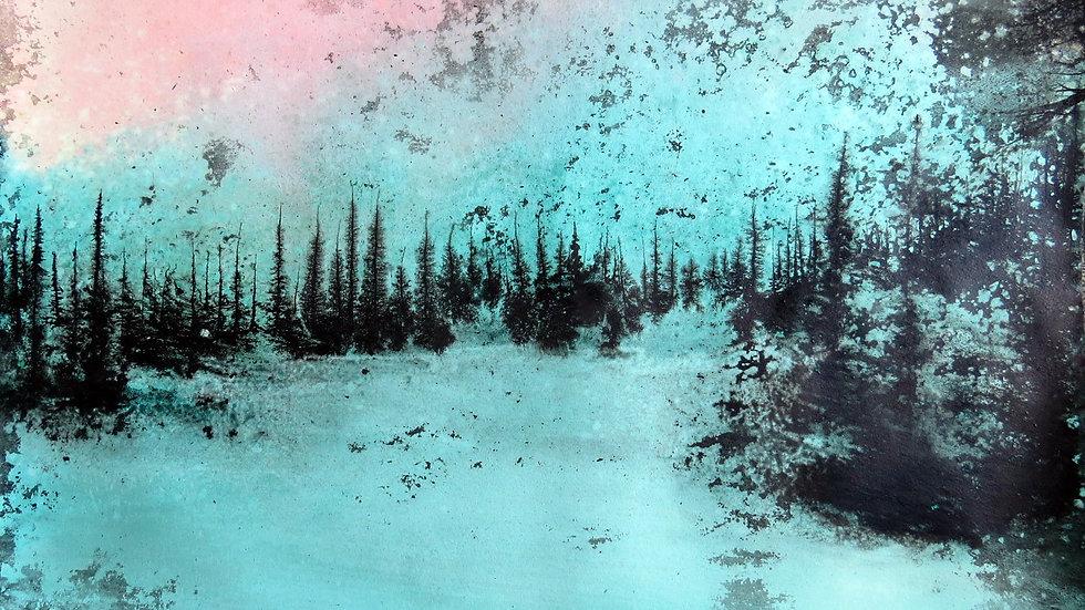 Snowscape aurora
