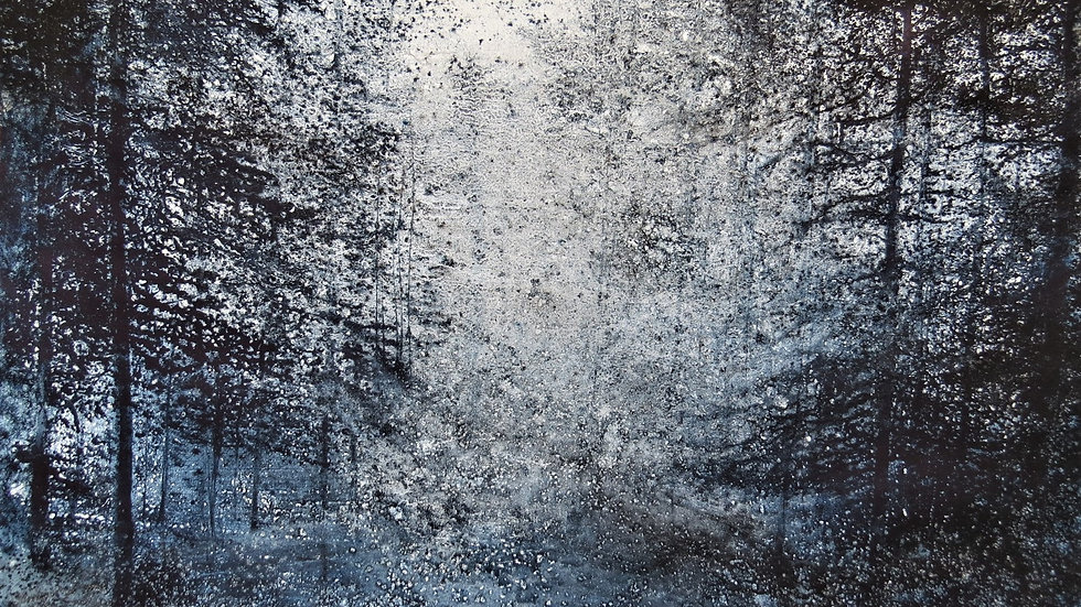 Indigo forest, twilight path