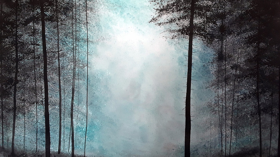 Black forest, blue light