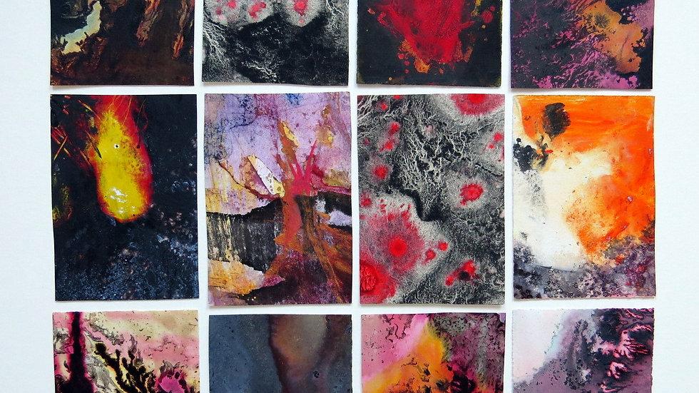 12 miniatures - The four elements, fire