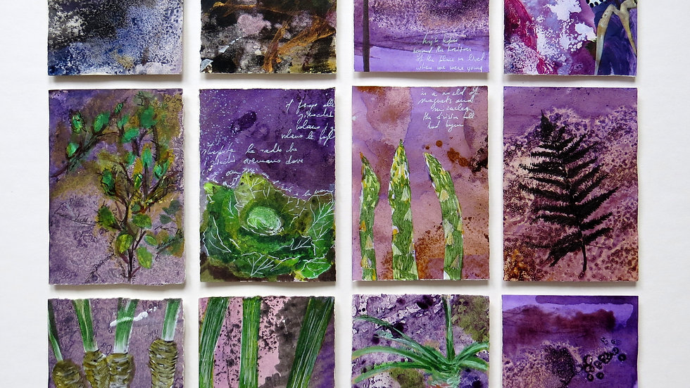 12 miniatures - Purple allotment