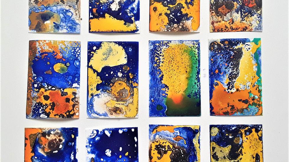 12 series 'Yellow leaping on ultramarine'