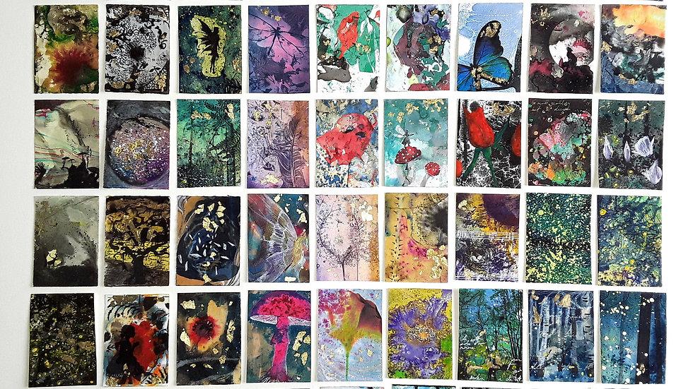 54 miniatures - Stardust, fireflies and water spirits