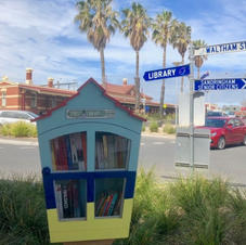 Free Street Library on Waltham with Anita Layzell & Bayside Mens Shed