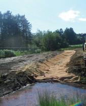 Culvert/embankment reinforcement, Longmoor
