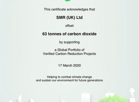Carbon Footprint Offset for 2019