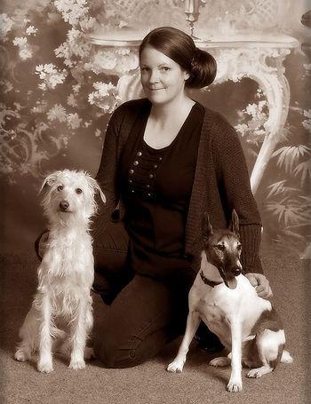 Kouluttaja ja omat koirat