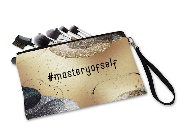 Mastery of Self Linen Cosmetic Bag