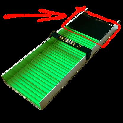 Foto einer Goldwaschrinne, Einfüllbereich wird hervorgehoben