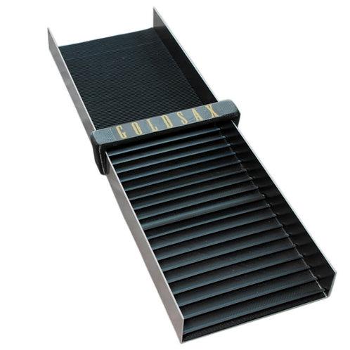 schwarze Goldwaschrinne für Einsteiger, 50 x 15 cm