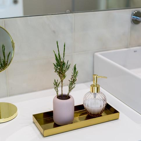 Decoração bancada casa de banho