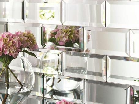 Espelhos na cozinha: Porque não?