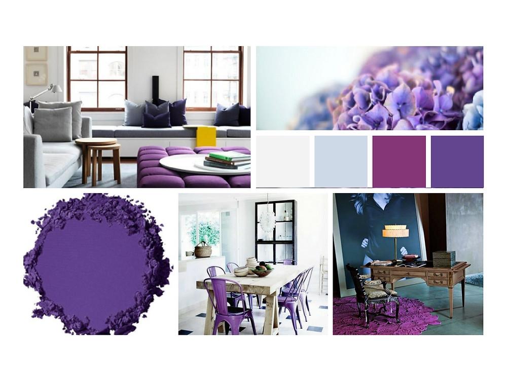 Moodboard desenvolvido por HOOST Home Staging - Ultra-Violet