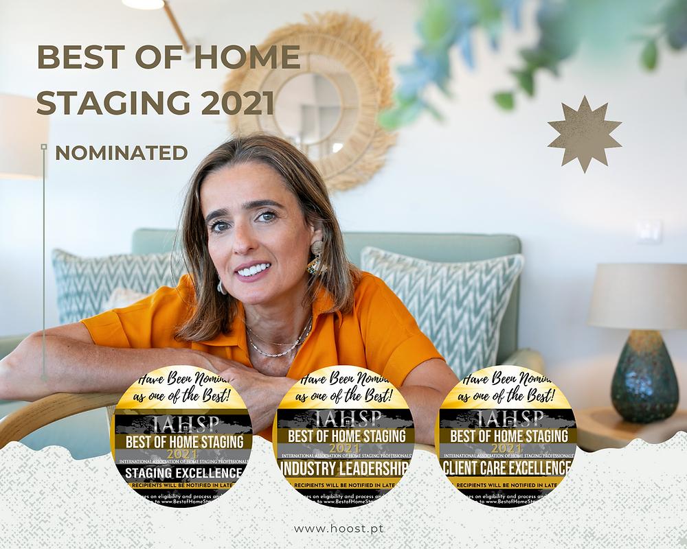 Ana Margarida Mendes CEO HOOST Home Staging foi nomeada em três categorias nos prémios Best Of Home Staging